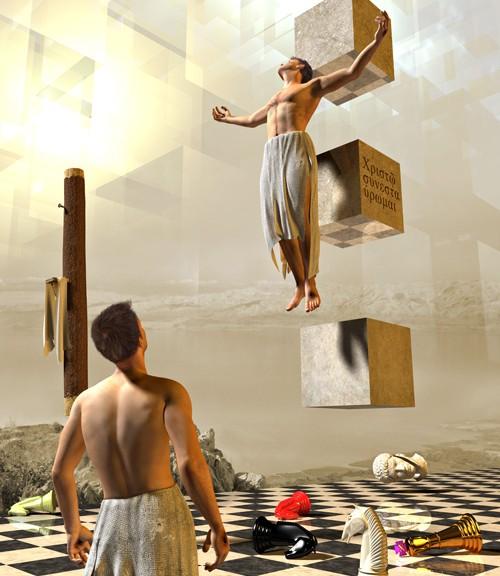 Con cristo crucificado
